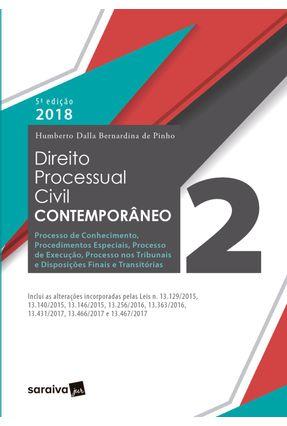 Direito Processual Civil Contemporâneo 2 - Humberto Dalla Bernardina De Pinho | Hoshan.org