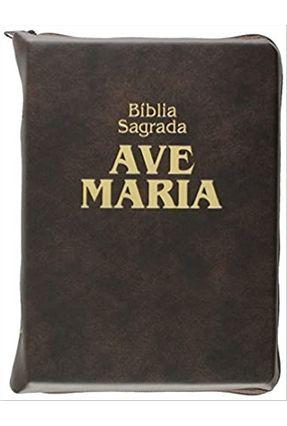 Bíblia Sagrada com Zíper - Média - Castro,Joao Jose Pedreira de   Hoshan.org