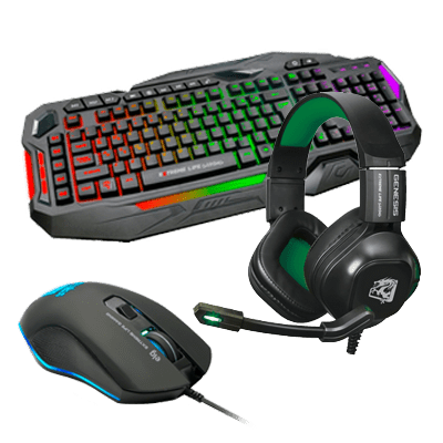 Kit Gamer - Teclado Gamer Death Machine + Headset Gamer Genesis + Mouse Gamer Strike Soldier