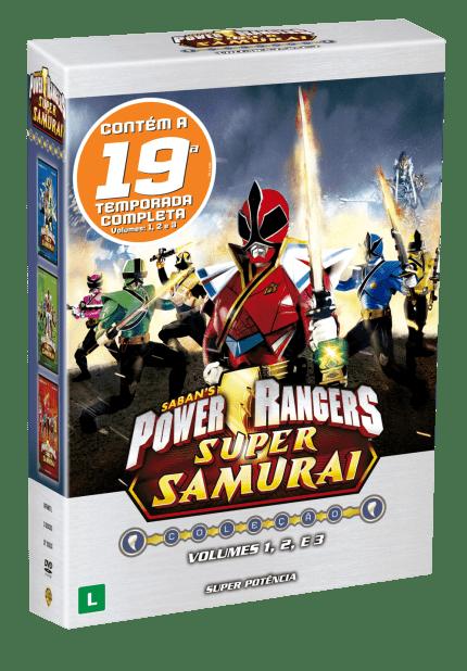 Dvd Box Power Rangers Super Samurai 19ª Temporada Vol 1 2 E 3