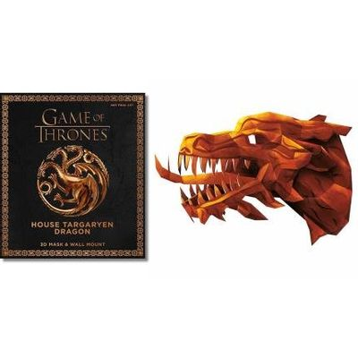 Game Of Thrones - The House Targaryen Dragon - 3D Mask & Wall Mount
