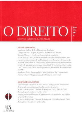 O Direito - Ano 139.º, 2007 - III - Inocêncio Galvão Telles | Tagrny.org