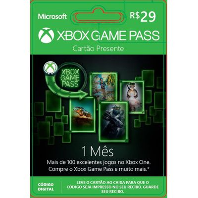 Brazil Xbox Game Pass DDP R$ 29,00 - Online