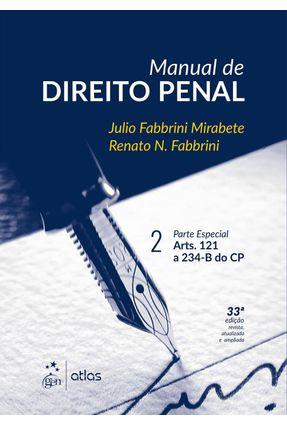 Usado - Manual de Direito Penal - Vol.  II - 33ª Ed. 2016 - Mirabete,Julio Fabbrini Fabbrini,Renato N. pdf epub