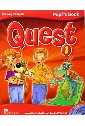Quest 1 - Pupil's Book  Pack with CD-Rom + Audio CD Songs + Key Booklet-1 - Macmillan | Nisrs.org