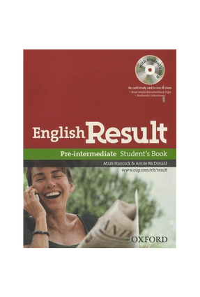 English Result Pre-Intermediate - Student´S Book With DVD Pack - Hancock,M. A. Mcdonald   Nisrs.org