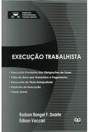 Execução Trabalhista - Vaccari,Édison Duarte,Radson Rangel F. | Hoshan.org