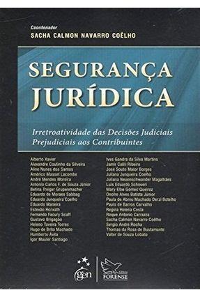 Segurança Jurídica - Coêlho,Sacha Calmon Navarro | Nisrs.org