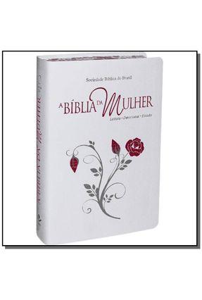 A Bíblia da Mulher Índice - Branca - Com Bordas Floridas - Grande