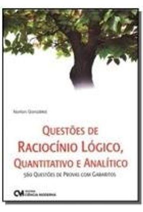 Questões de Raciocínio Lógico , Quantitativo e Analítico