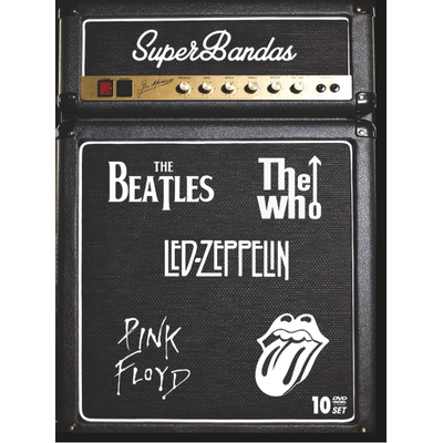 Super Bandas - The Beatles, The Who, LED Zeppelin, Pink Floyd, Rolling Stones - Box Com 10 DVDs