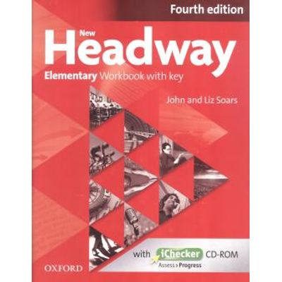 New Headway - Elementary - Workbook With Key & Ichecker CD-ROM Pack - 4 Ed.