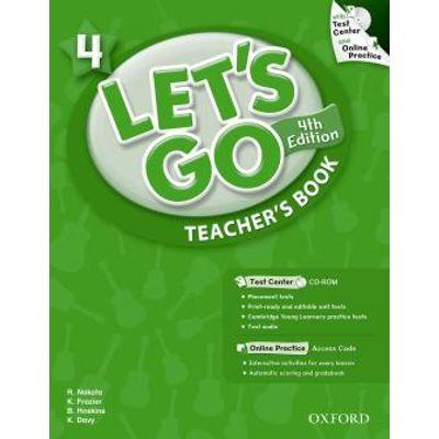 Let's Go 4 -  Teacher's Book With Test Center CD-ROM - 4ª Ed.