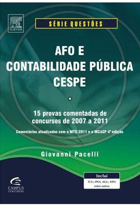 Afo e Contabilidade Pública - Questões Cespe - Pacelli, Giovanni pdf epub