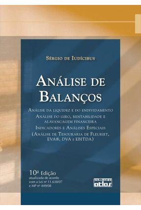 Análise de Balanços - 10ª Ed. 2009 - Iudícibus,Sérgio de pdf epub