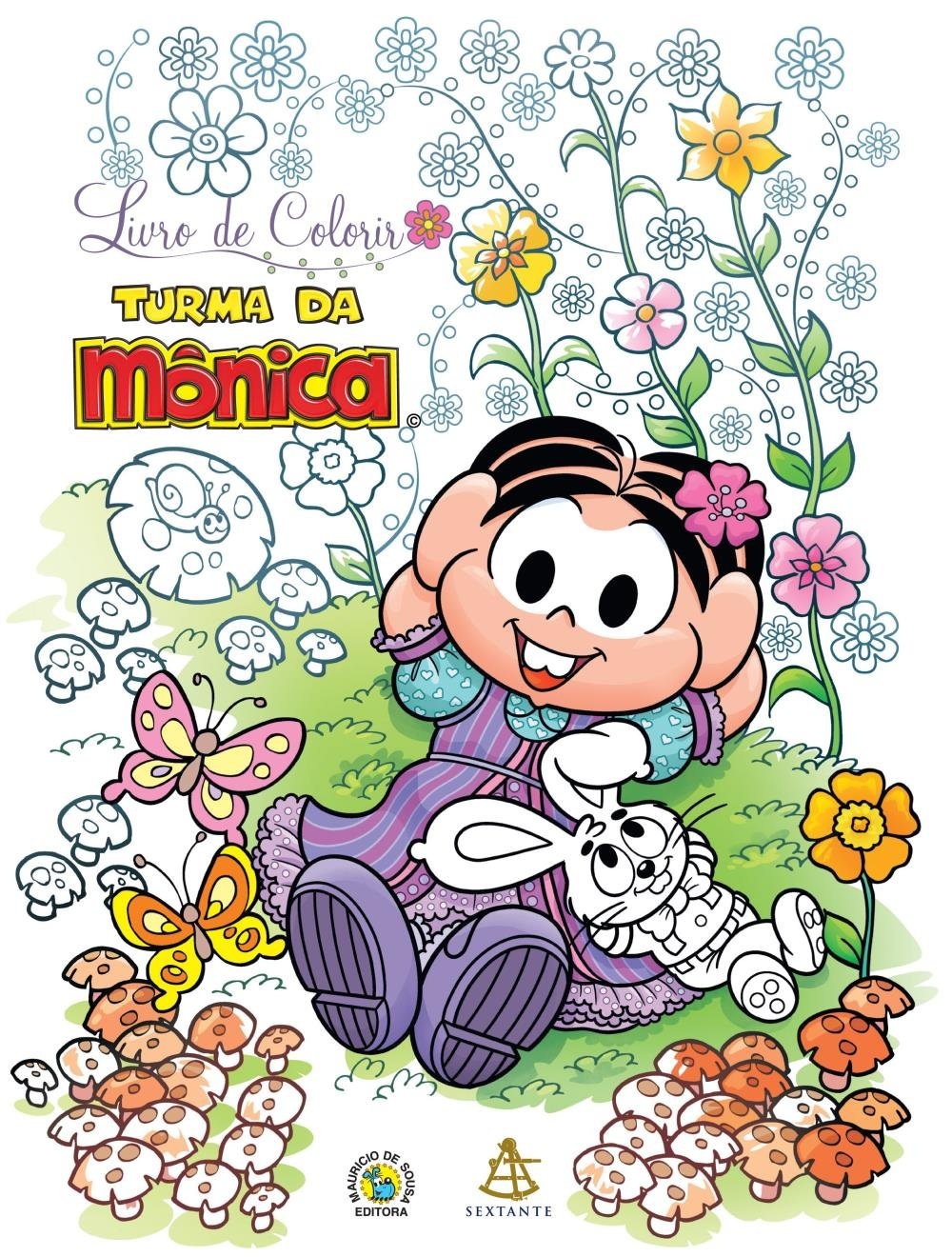 Livro De Colorir Turma Da Monica Saraiva