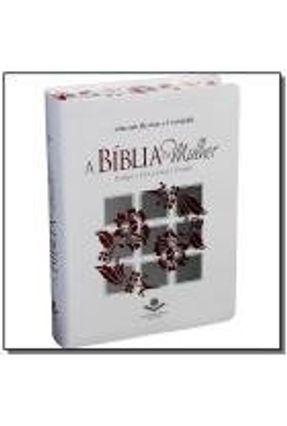 A Bíblia da Mulher Índice - Branca - Com Bordas Floridas
