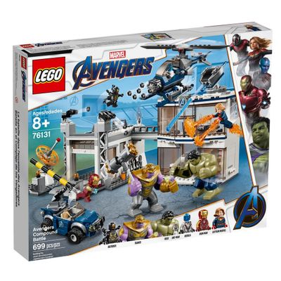 LEGO Avengers - Disney - Marvel - Ultimato - Combate no Quartel General - 76131