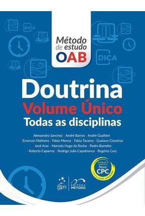 Doutrina - Todas As Disciplinas - Volume Único - Série Método de Estudo OAB - Sanchez,Alessandro   Hoshan.org