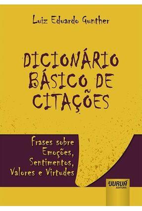 Dicionário Básico De Citações - Editora Jurua | Hoshan.org