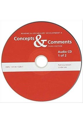 Reading & Vocabulary Development Series - 4 - Concepts & Comments - 3e - Audio CD - Lee,Linda Ackert,Patricia | Nisrs.org