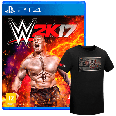 Wwe 2K17 + Camiseta - PS4