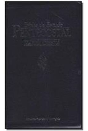 Bíblia de Estudo Pentecostal - Média Luxo Azul Com Harpa Cristã
