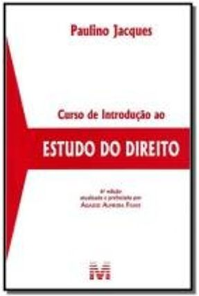 Curso de Introdução ao Estudo do Direito - 6ª Ed. 2014 - Jacques,Paulino pdf epub