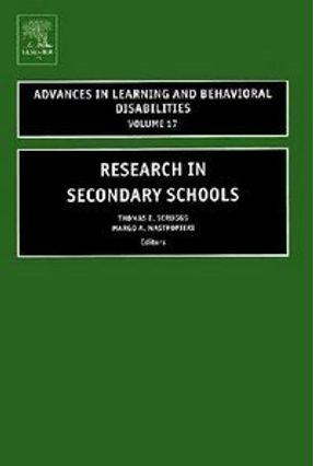 Research In Secondary Schools - Mastropieri,Margo A. Scruggs,Thomas E. (edt) | Hoshan.org