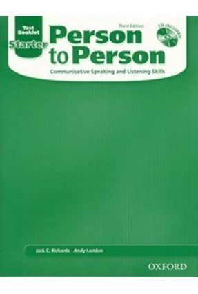 New Person To Person Starter - 3 Ed. Testbklet - Richards,Jack C. London,Andy   Hoshan.org