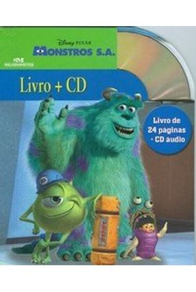 Monstrons S.a  -  Série Disney ( Livro + CD ) - Editora Melhoramentos   Nisrs.org