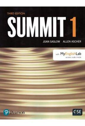Summit 3ed Student Book With Mel Level 1 - Ascher,Allen Saslow,Joan | Hoshan.org