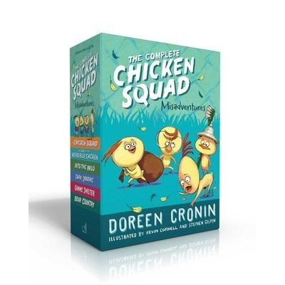 The Complete Chicken Squad Misadventures - The Chicken Squad; The Case Of The Weird Blue Chicken; Into The Wild; Dark Sh