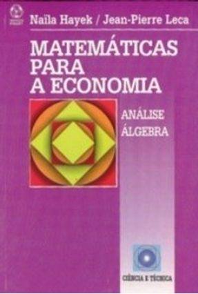 Matemáticas para a Economia - Jean Pierre Leca Naila Hayek   Tagrny.org