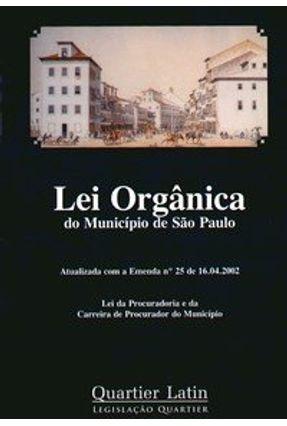 Lei Orgânica do Município de São Paulo - Vieira,Vinícius | Tagrny.org