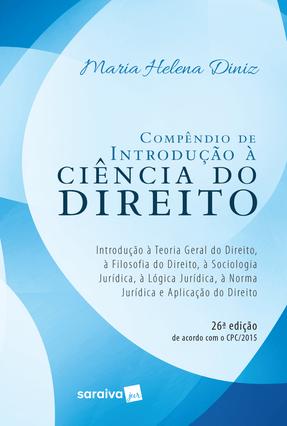 Usado - Compêndio de Introdução À Ciência do Direito - 26ª Ed. 2017 - Diniz,Maria Helena   Hoshan.org