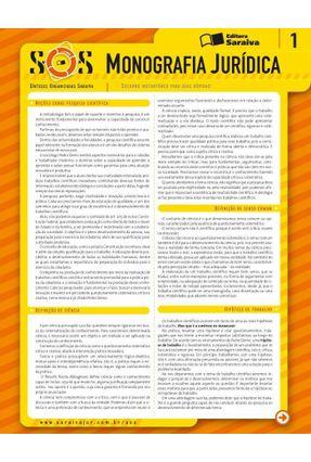 Col. Sos - Sínteses Organizadas Saraiva - Vol. 1 -  Monografia Jurídica - Alvim,Marcia | Tagrny.org