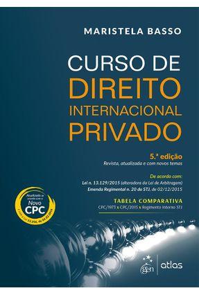 Curso de Direito Internacional Privado - 5ª Ed. 2016 - Basso,Maristela | Nisrs.org