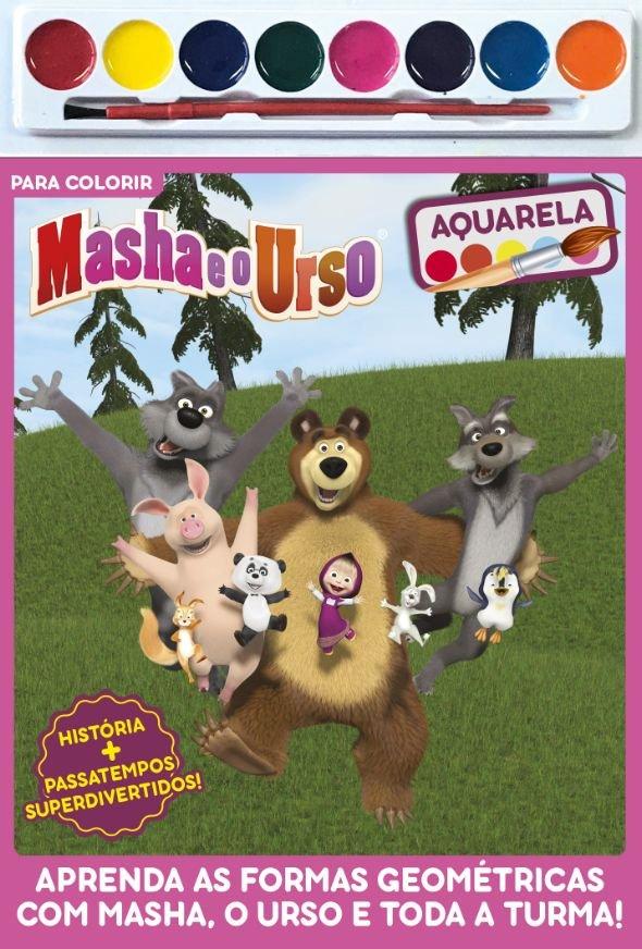 Masha E O Urso Para Colorir Saraiva