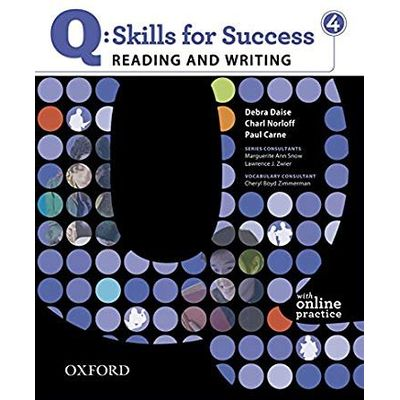 Q Skills For Success 4 Reading & Writing Student Book With Student Access Code Card