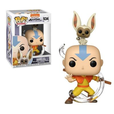 Funko Pop Avatar Aang with Momo 534