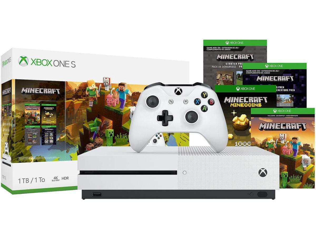 Console Xbox One S - Xbox One S 10TB Bundle Minecraft - Microsoft