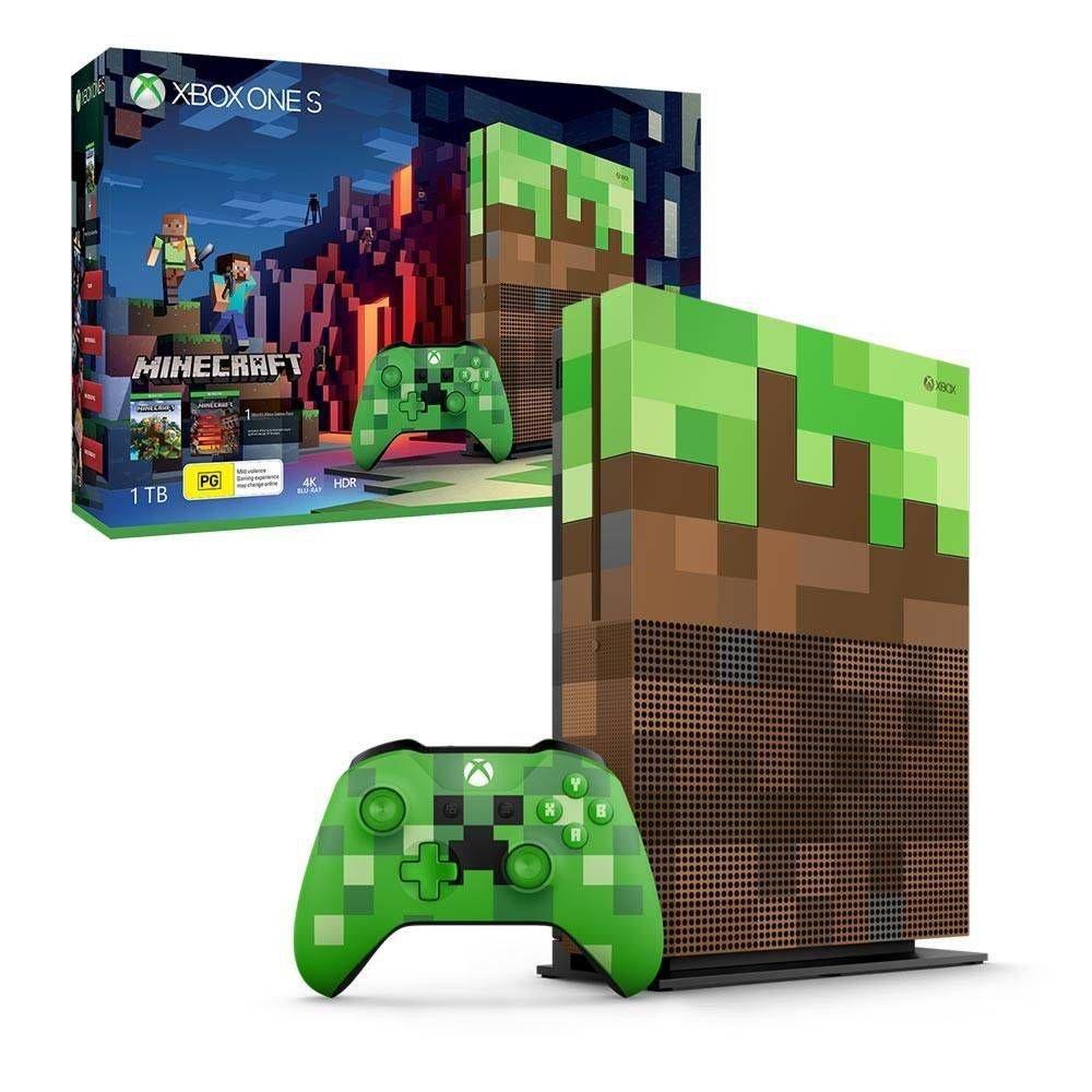 Console Xbox One S - Xbox One S 10TB Edição Minecraft - Microsoft