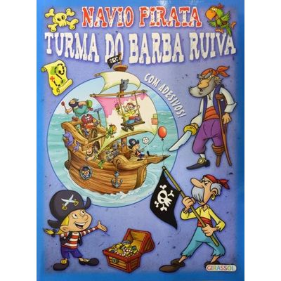 Turma do Barba Ruiva - Col. Navio Pirata - Azul