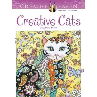 Creative Haven Creative Cats Coloring Book - Creative Haven Coloring Books
