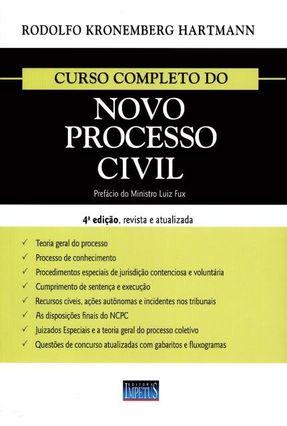 Curso Completo do Novo Processo Civil - 4ª Ed. 2017 - Hartmann,Rodolfo Kronemberg | Tagrny.org