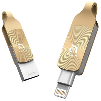 Pen Drive 32Gb Adam Elements Iklips Duo Dourado Para iPhone