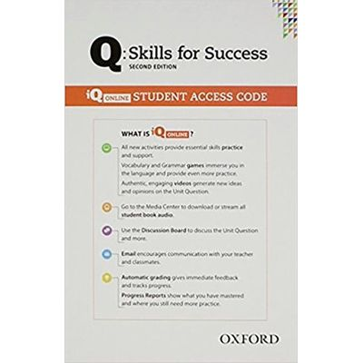 Q Skills For Success Student Online Access Card (All Levels) Practice Book - 2Nd Revised Edition