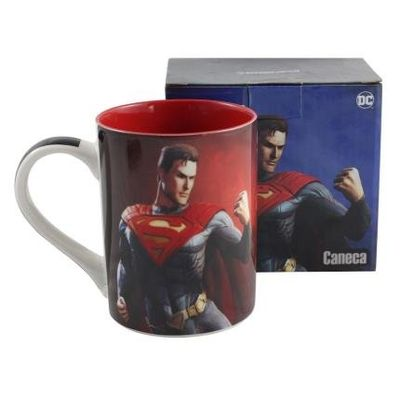 Caneca Reta Zonacriativa Superman Injustice 460Ml