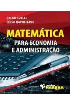 Matemática Para Economia E Administração - Editora Harbra pdf epub